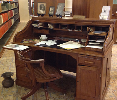 Roll Top Desk Located In The Legislative Reference Library.
