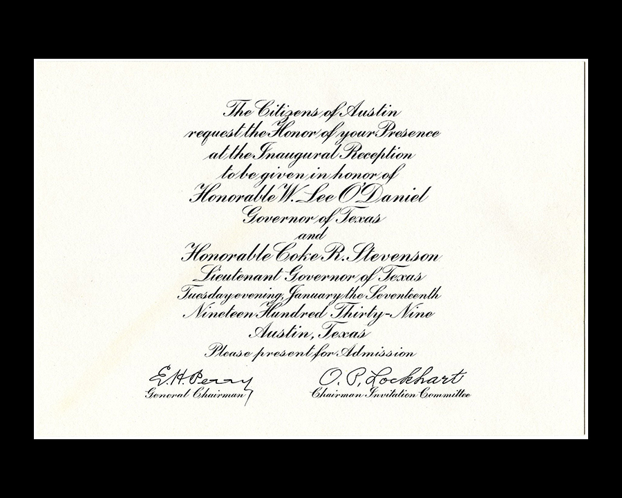 Inaugural documents