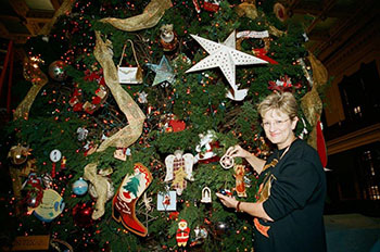 this year marks the 20th anniversary of the texas capitol ornament program in 1996 nelda laney pictured left wife of then house speaker pete laney - Texas Christmas Ornaments