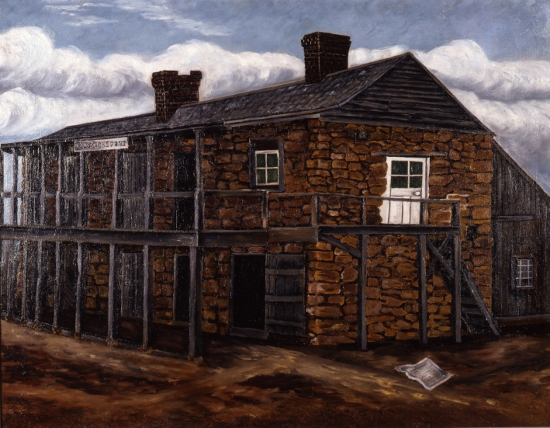 Painting of the Fort at Nacogdoches